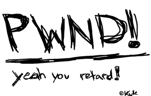 PWND wallpaper by Kyle-the-hedgehog
