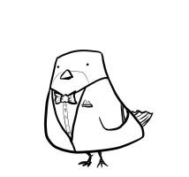 Sparrow In A Tux by JonFreeman
