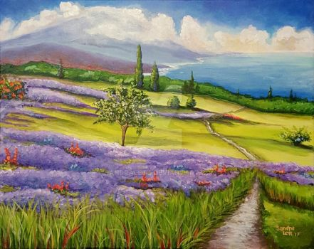 Lavender Fields by sandralett