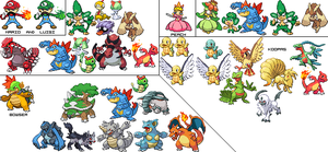 Mario Character Sprites by gamerboy03