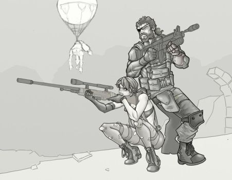 Metal Gear Solid V - W.I.P. by davidstonecipher
