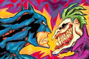 Batman vs Joker by eldeivi