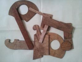 Abstract Wood Cut by gpsc