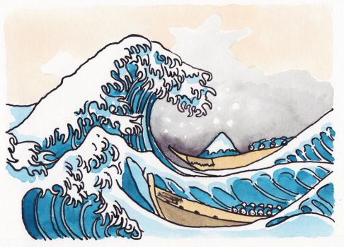 The Shitty Great Wave by ShittyWatercolour