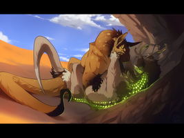as the two of us melt into the golden waves by GryAdventures