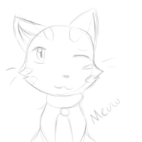 Meow (Paint Tool Sai Test) by SparkyChan23