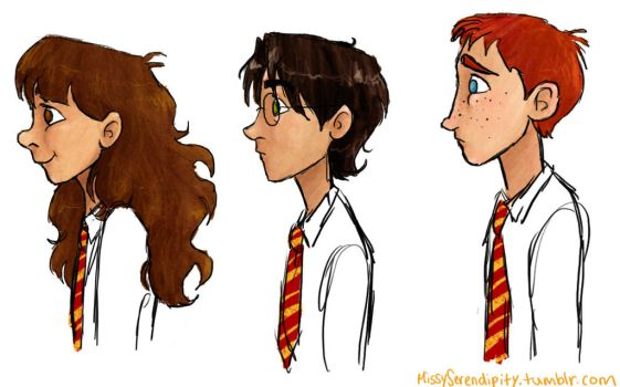golden trio by MissySerendipity