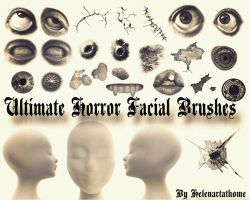 Ultimate Horror Facial Brushes by Helenartathome
