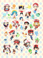 Pokemon Trainers Blanket by Fishenod
