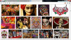 google search *day of the dead* by Manglenn