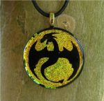 Fire Dragon Flight Fused Glass by FusedElegance