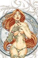 Witchblade pinup--color by DNA-1
