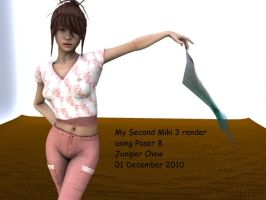 My Second Render of Miki3, usi by ibr-remote