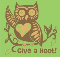 T-Shirt Design - Give a Hoot by brandondopson