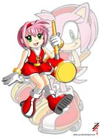 Amy Rose - Human form by 2ble-ZZ