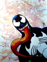 Venom watercolor by psychoheat