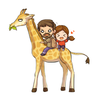 Giraffe ride by keterok