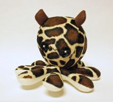 Custom giraffe octopus plush by jaynedanger