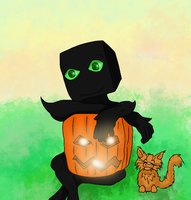 Baby farlander with a pumpkin by Chaostructure