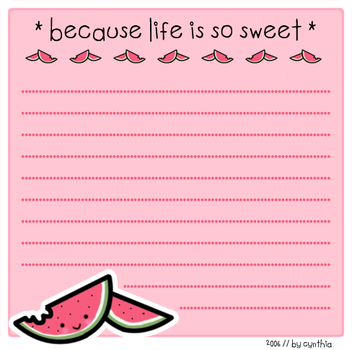 Life is so sweet :: Stationary by PinkNyu