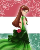 APH - Eliza's green dress by KaroruMetallium