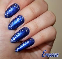 Blue winter nails by eresseayesta