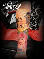 disney sleeve tattoo by CalebSlabzzzGraham