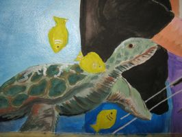 close up of turtle by Iolii