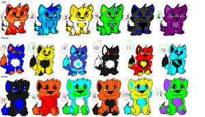 ADOPTABLES!!!!! (some are free!!!) by Obsidianthewolf