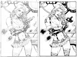 Aphrodite IX before and after by JonathanGlapion