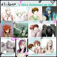 2014 Art Summary by mr-rukan-san