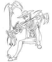 Francouer Keyblade :outline: by ColorfulCandie