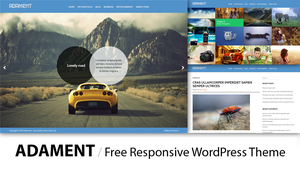 Adament - Free Premium Photography WordPress Theme by eds-danny
