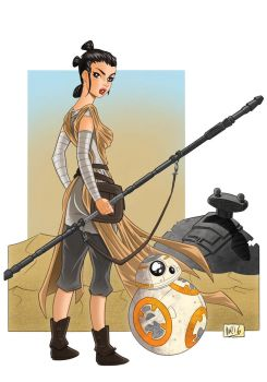 Rey and BB8 by DaniDocampo