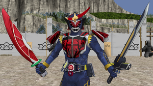 MMD NC - Kamen Rider Bujin Gaim Blood-Orange Arms by Zeltrax987