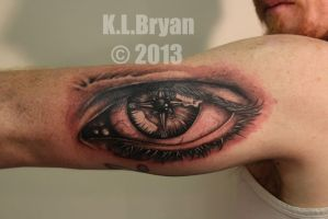 Compass Eye tattoo by danktat