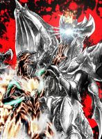Godzilla vs Destroyah Art Trade (With Effects) by JetZero