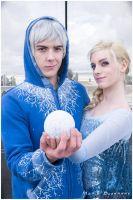 Elsa x Jack Frost by JuliaJamescosplay94