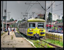 Arrival of the train... by Iulian-dA-gallery
