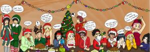 Naruto Christmas party by PetiteLilen