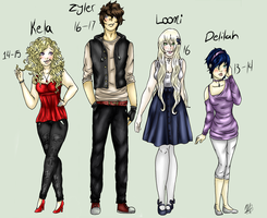 Friends and familly 2ed and 3ed gen by RiverDrop