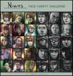 Face Variety Challenge by Under-O