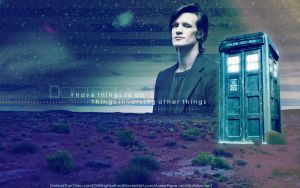 S6 11th Doctor -Widescreen- by DriftingFeather
