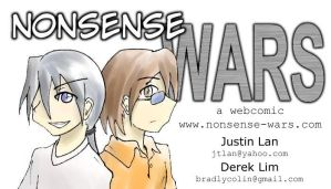 Nonsense Wars Business Card by jtlan