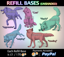 Refill Bases - UNSHADED (For Points and Paypal) by Jenny2-point-0