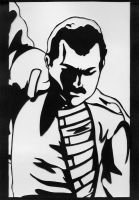 Freddie Mercury PaperCut by mib4art