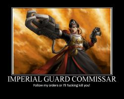 Imperial Guard Commissar by AngryFlashlight