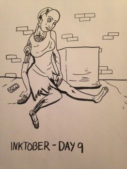 2016 - 10oct - Inktober (Day 9) by mosobot64