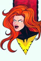 Dark Phoenix Headshot by RichBernatovech