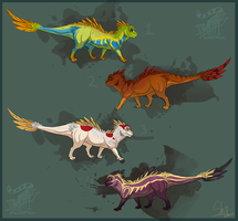 Feathered Dragons by ResidualAdopts